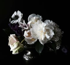New Large Scale Dark Floral Modern Flower by lucysnowephotography