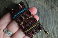 Hey, I found this really awesome Etsy listing at https://www.etsy.com/listing/521260605/macrame-cuff-bracelet-with-brass-beads