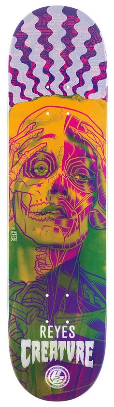 Creature Reyes Anatomy 8.0 P2 Skateboard Deck Skateboard Deck Art, Skateboard Design, Old School Skateboards, Cool Skateboards, Creature Skateboards, Surf, Snowboard Design, Skate And Destroy, Skate Art