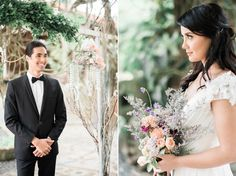 Love and Reverie, a pre-wedding editorial shoot photographed by The Daydreamer Studios. Wedding Blog, Lush, Rustic Wedding, Editorial, Gray, Wedding Dresses, Floral, Flowers, Women