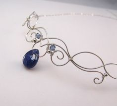 Elven Circlet Necklace Silver Wire Wrapped by FantasiaElegance