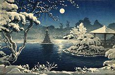 "Japanese Art Print ""Moon Over Hibiya Park"" by Tsuchiya Koitsu. Shin Hanga and Art Reproductions http://www.amazon.com/dp/B00XWT6ZX2/ref=cm_sw_r_pi_dp_Nkxswb0A05KVK"