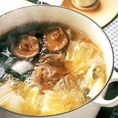 ウー・ウェンさんの白菜たっぷり鍋