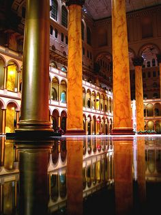 National Building Museum - one of the most beautiful buildings in Washington, D.C.USA