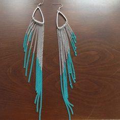 Super cute dangling earrings! Adorable teal dangling earrings! Needs posts Jewelry Earrings