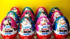 12 MAXI Kinder Surprise Eggs Unboxing Big Kinder Surprise Макси киндер с...