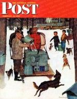 Saturday Evening Post Magazine Cover: Maple Syrup Time in Vermont (Mead Schaeffer, February 17, 1945)