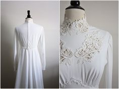 70s Lucianna Dress. Bohemian crochet Wedding by PARASOLvintage