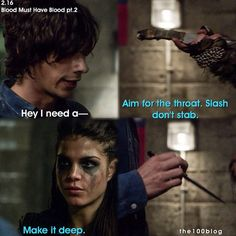 "#The100 2x16 ""Blood Must Have Blood, Part Two"" - Octavia and Jasper"