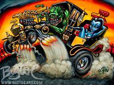 BigToe's Hot Rod Herman Limited Edition Archival Art by BigToeArt, $50.00