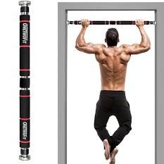outdoor pull up bar diy - Google Search Homemade Pull Up Bar, Diy Pull Up Bar, Home Gym Exercises, Gym Workouts, At Home Workouts, Up Fitness, Health Fitness, Door Gym, Door Wall