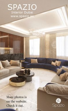 Luxury house interior design and decor for seating area created by