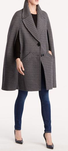 Michael Kors Collection Cape Coat in Grey