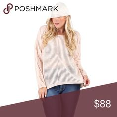 Lightweight Loose Knit Long Sleeve Sweater The softest blush pink and cozy knit, this sweater will be your every day favorite for cool weather.   Available in XXL/2X  ❌ Sorry, no trades. fairlygirly Sweaters Crew & Scoop Necks