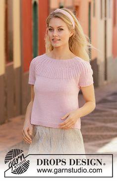 Ravelry: Soda Fountain pattern by DROPS design Drops Design, Sweater Knitting Patterns, Free Knitting, Crochet Girls, Knit Crochet, Magazine Drops, Knitwear Fashion, Yarn Brands, Knitting Accessories