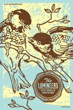 The Lumineers at Cannery Ballroom concert poster.