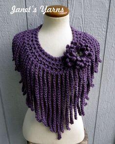Exceptional Stitches Make a Crochet Hat Ideas. Extraordinary Stitches Make a Crochet Hat Ideas. Col Crochet, Crochet Flower Scarf, Crochet Collar, Crochet Woman, Crochet Poncho, Crochet Scarves, Crochet Motif, Crochet Clothes, Crochet Stitches