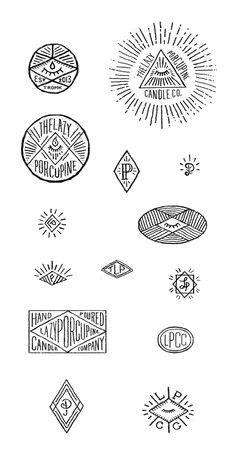Lazy Porcupine Trademarks by Luke Magalsky, via Behance