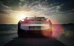 BMW i8 Rear shot, rendered in KeyShot by Rich Feldman.