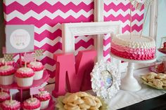 Hot Pink Chevron + Ombre Bridal Shower! | Pizzazzerie