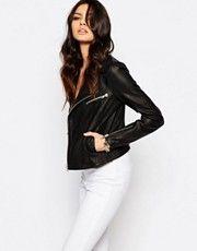 Y.A.S Beat Leather Biker Jacket