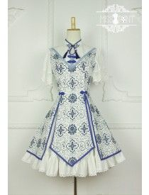 Miss Point ~Blue and White Porcelain~ Qi Lolita OP Dress