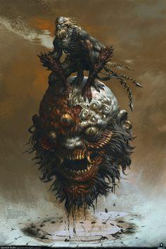 Stunning Medieval Fantasy Art by Yang Qi — GeekTyrant Monster Art, Fantasy Monster, Monster Design, Dark Fantasy Art, Fantasy Kunst, Dark Art, Arte Horror, Horror Art, Digital Painter