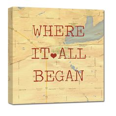 """""""Where it all began"""" - the story of your love! A beautiful keepsake to remind you of where your love story started!"""