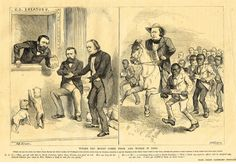 """Leslie's Illustrated Newspaper - 1872 - """"""""WHERE THE MONEY COMES FROM, AND WHERE IT GOES"""""""""""