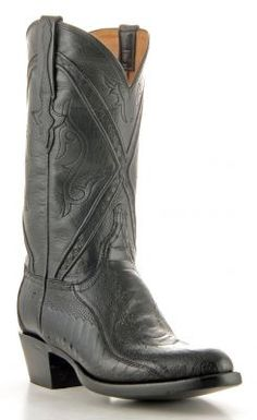 bd45aea37a0 Mens Lucchese Classics Ostrich Let Boots Black  Gc9521 Cool Boots