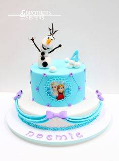 "Frozen Cake design ""La reine des neiges"""