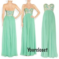 Sweetheart A-line Green Chiffon Sleeveless Long Prom Dress / Homecoming Dress from Your Closet on Storenvy