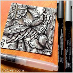Learn how to create unbelievable Zentangle®️ shading • enioken.com