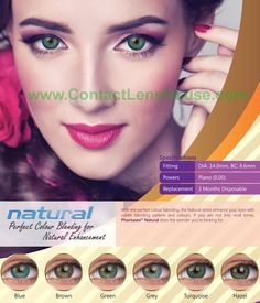 Phantasee Natural Months) - With the perfect colour blending, the Phantasee Natural colour contact lens series enhance your eyes with subtle blending pattern and colours. If you are not into vivid tones, Natural series does the wonder you're looking for. Green Contacts Lenses, Colored Contacts, Natural Color Contacts, Eye Color Chart, Coloured Contact Lenses, Color Lenses, Sally Beauty, Color Blending, 3 Months