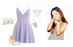 """""""Ariana Grande ~ Lavender Lovely"""" by hanakdudley ❤ liked on Polyvore featuring мода, AX Paris, Christian Louboutin, Tiffany & Co. и Coach"""