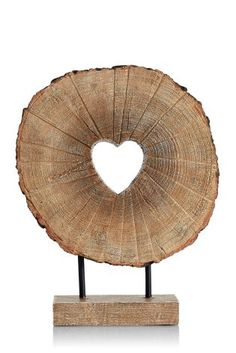 Buy Heart Wood Effect Sculpture online today at Next: Israel