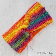 Ladies crochet rainbow twist ear warmer. Crochet ear warmer. Rainbow headband. £12.00 Rainbow Headband, Ear Warmers, Ear Warmer Headband, Wool Wash, Beautiful Gifts, Yarn Colors, Gifts For Friends, September, Crochet Patterns