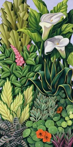 Catherine Abel - Foliage I, 2003 (oil on canvas)