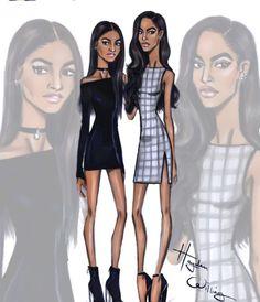 Sasha Obama & Malia Obama by Hayden Williams Barack Obama, Malia Obama, Obama Daughter, First Daughter, Hayden Williams, Michelle Obama, Arte Fashion, Fashion Design, Paper Fashion
