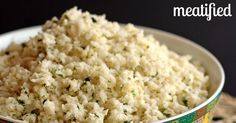 Lime & Coconut Cauliflower Rice - meatified