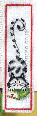 Buy Black and White Cat Bookmark Cross Stitch Kit online at sewandso.co.uk