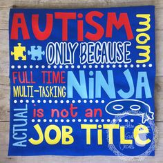 Autism Mom/Dad Funny Vinyl Tshirt by SouthernGalDecals on Etsy