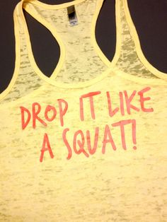 Workout Clothing // Drop it like a squat by AbundantHeartApparel Workout Attire, Workout Wear, Squat Workout, Workout Exercises, Workout Outfits, Ab Workouts, I Work Out, How To Get, How To Plan