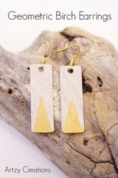 Super Cute Earrings created with various Modern Masters Metallic Paints   Fun Project by Artzy Creations