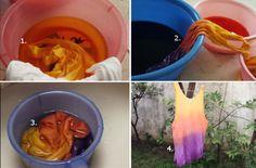 DIY Shirt Turned Dyed Tanktop!