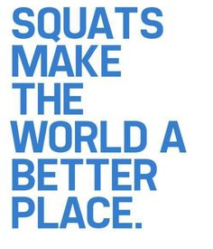 Squats make the world a better place!  Come get your fitness on at Powerhouse Gym in West Bloomfield, MI!  Just call (248) 539-3370 or visit our website powerhousegym.com/welcome-west-bloomfield-powerhouse-i-41.html for more information!