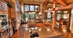 Open floor plan: kitchen and living room! I seriously love love love this floor plan.. Everything. | For the Home | Pinterest | Open Floor, Open Floor Plans an…