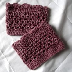 Crochet Boot Cuffs Legwarmers Pink Dusty Rose by WildHeartYarnings, $18.00