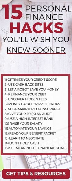 Discover 15 personal finance hacks to save and make more money (you'll wish you knew sooner) life hacks | money management tips | personal finance tips | personal finance lessons | personal finance organization #MONEYMANAGEMENT #PERSONALFINANCE #MONEYTIPS #BUDGET
