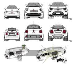 FIAT, IL FATTORE X - Auto&Design Auto Design, Maserati, Ferrari, Car Buyer, Car Sketch, S Car, Transportation Design, Fiat, Exterior Design